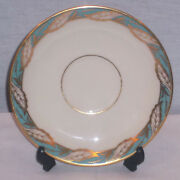 Discontinued Lenox China Bellevue Sea Green Saucer Only Mint