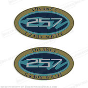 Grady White Advance 257 Logo Decals Set Of 2 - Decal Reproductions In Stock