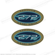 Grady White Sailfish 272 Logo Decals Set Of 2 - Decal Reproductions In Stock