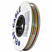 100 Foot Rainbow Ribbon Cable 16 Conductors Standard 10 Color Repeat Sequence