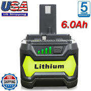 6.0ah For Ryobi P108 18v One+ Plus High Capacity Battery 18 Volt Lithium-ion New