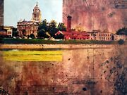 The Levee - Original Painting On Gallery Wrap Canvas By Artist William Iii