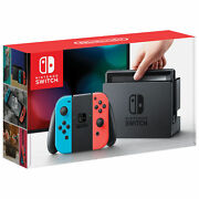 Nintendo Switch Console Neon Blue/red Joy-con + Super Mario Party And Minecraft