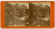 Mount Auburn Cemetery Boston Mass. Stereoview Photo By C. Woodward, Rochester Ny