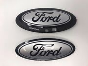 2018-2020 Ford F150 Custom Grille/tailgate Emblem Gloss Black/gloss Ignot Silver
