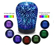 Ultrasonic Aromatherapy Essential Oil Diffuser 3d Led Lights 16 Color Changing