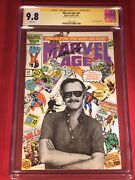 Marvel Age 41 Cgc Ss 9.8 Stan Lee Photo Cover Wht Pgs Original Owner New Case