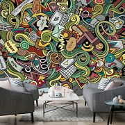 3d Graffiti Pattern 8 Wall Paper Exclusive Mxy Wallpaper Mural Decal Indoor Wall