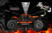 Losi Monster Truck Xl Graphics Wrap Hop-up And039hell Rideand039 Fits Los250015 Body Parts
