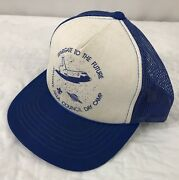 Vtg Stargate To The Future Hat Snapback Trucker Cap Jayhawk Day Camp Space