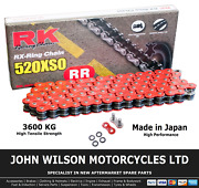 Honda Xr 600 R 2000 Pe04a Red Rk X-ring Chain 520 Xso 110 Link