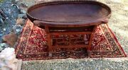 Lg Antique Chinese Baby Crib Basket Of Willow-bamboo W Rocking/wood Stand Cr1900