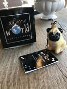 Joy To The World Collectibles Blown Glass Pet Ornament Pug Fawn Zkp1743 Dog