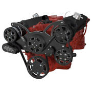 Black Diamond Serpentine System For Sbc 283-350-400 - Ac And Power Steering