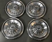 1 Set Vintage Factory Ford Fairlane Hubcaps Wheel Covers 14'' 1965-1966 Pn979