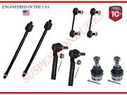 8pc Inner/outer Tie Rod Ends Ball Joint Rear Sway Bar Link For Subaru 2000-2004