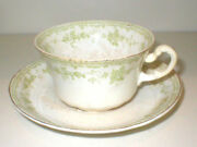 Vintage Furnivals 19th Century China,walden-green Cup And Saucer, 1800s