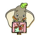 Rare Le 100 Disney Auctions Pin✿ Dumbo Elephant Lunch Box Timothy Mouse Peanuts