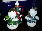 Rudolph And The Island Of Misfit Toys - Sam The Snowman - 2 Ornaments By Enesco