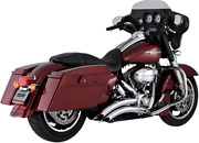 Vance And Hines Chrome Big Radius Curved Exhaust System 09-16 Harley Touring Flhx