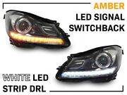 Depo Oe Amg Projector Led Headlight For 2012-14 Mbz W204 C Class+drl/switchback