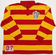 New Universal Harry Potter Gryffindor Quidditch Long Sleeve Polo Jersey 3xl