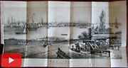 New York City In 1816 Lovely Early Urban Harbor View 1860 Hayward Litho Print