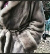 Mink Womans Coat M/l/xl Made In Italy Costum