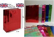Extra Large Gift Bag 42 Cm X 31 Cm Holographic Paper Birthday Uk Party Christmas