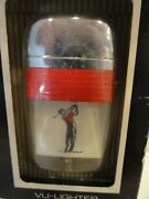 Vintage Scripto Vu Lighter Golfer With Red Band In Box
