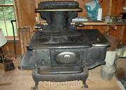 Antique Weir Glenwood 408-e Cast Iron Wood Coal Stove 1903 - Vg Condition