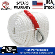 3/4x200and039 Twisted Three Strand Boat Nylon Anchor Mooring Rope Line With Thimble