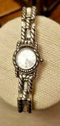 Sterling Silver Watch 6.5 Judith Jack Excellent Condition