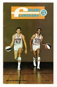 1969-1970 Miami Floridians Information Guide Aba