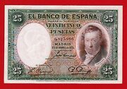 Unc 25 Pesetas 1931 And039and039 Vicente Lopez And039and039 Spain