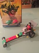 Lego Custom Design Robin Dragster/figure/hot Wheel One Of A Kind Collectible