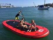 Inflatable Pvc 10-14 Person Oversized Paddle Board Surf Board Dingy Raft Boat