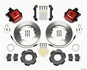 Wilwood Combination Parking Brake Rear Kit 11.00in Red For 2012 Fiat 500 W/ Line