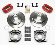 Wilwood Dynapro Dust-boot P/s Park Brake Kit Red Small For Ford 2.66in Offset -