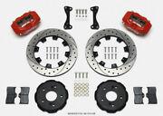 Wilwood Forged Dynalite Front Hat Kit 12.19in Drilled Red For 02-06 Acura Rsx-5