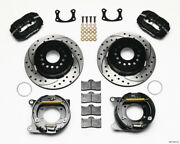 Wilwood Forged Dynalite P/s Park Brake Kit Drilled Bop Axle 2.75in Bearing 2.75