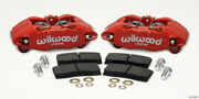 Wilwood Dpha Front Caliper And Pad Kit Red For Honda / For Acura W/ 262mm Oe Rotor