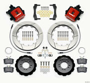 Wilwood Combination Parking Brake Rear Kit 12.88in Red 2013-up For Ford For Focu