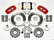 Wilwood Aero6 Front Truck Kit 14.25in Red For 97-03 Ford For F150 - Wil140-12824