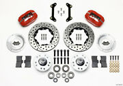 Wilwood Forged Dynalite Front Kit 11.00in Drilled Red 79-87 Gm G Body - Wil140-1