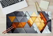 3d Fashion Color Triangle 8 Texture Non-slip Office Desk Mouse Mat Keyboard Game