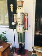 Two Tall 6and039ft Christmas Nutcracker Indpor Or Outdoor Woodandnbsp