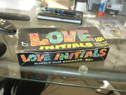 1968 Topps Gum Co Love Initials Empty Wax Pack 10 Cent Display Box