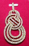 Christmas 3.63ct Natural Round Diamond 14k Solid Yellow Gold Pendant