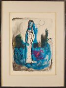 Marc Chagall French Russian ,1887-1985 Original Handcolor Lithograph Print